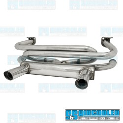 2 Tip Exhaust System, 1-3/8in. Header, Stainless Steel