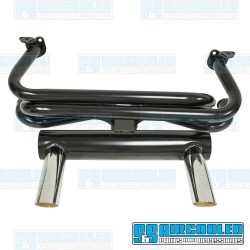 2 Tip GT Exhaust System, 1-3/8in. Header, Black w/Chrome Tips