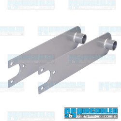 Spring Plates, 4-1/4in Collar, 24-11/16in Torsion Bar, Heavy Duty, Swing Axle, Silver, EMPI
