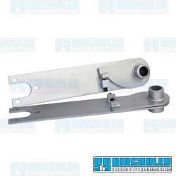 Adjustable Spring Plates, 6-1/8in Collar, 26-9/16in Torsion Bar, Swing Axle, Silver, EMPI