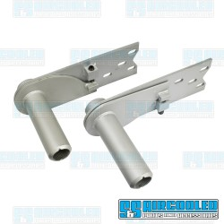 Adjustable Spring Plates, 6-1/8in Collar, 26-9/16in Torsion Bar, IRS Axle, Silver, EMPI