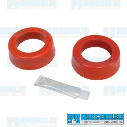 Spring Plate Bushings, 1-7/8in I.D., Round, Urethane, Red, Bugpack