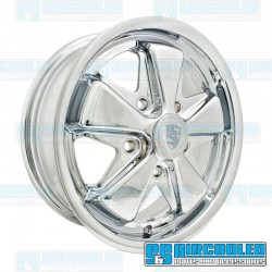 Wheel, Porsche 911 Alloy, 15x4.5, 5x130 Pattern, Chrome, EMPI