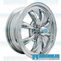 Wheel, GT-8, 8 Spoke, 15x5.5, 4x130 Pattern, Chrome