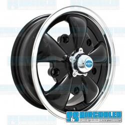 Wheel, GT-5, 5 Spoke, 15x5.5, 5x205 Pattern, Gloss Black w/Polished Lip