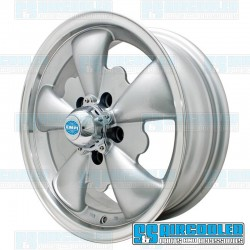 Wheel, GT-5, 5 Spoke, 15x5.5, 5x112 Pattern, Silver w/Polished Lip