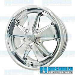 Wheel, Porsche 911 Alloy, 17x7, 5x130 Pattern, Chrome, EMPI