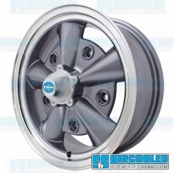 Wheel, 5-Rib, 15x5.5, 5x205 Pattern, Anthracite w/Polished Lip