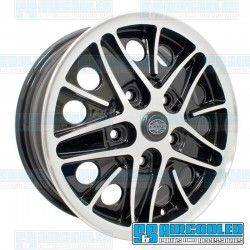 Wheel, Cosmo, 15x5.5, 5x130 Pattern, Gloss Black w/Polished Lip