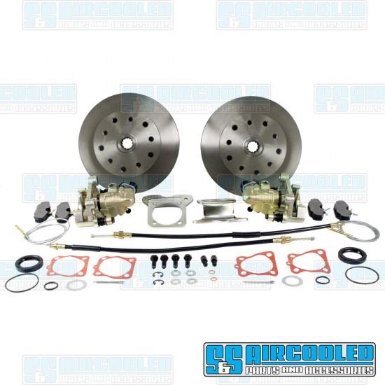 EMPI Disc Brake Kit, Rear, 5x130mm/5x4.75in, e-Brake, Stamped Brackets