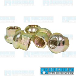 Lug Nuts, M14-1.5, Ball Seat, Open Ended, Zinc Plated, EMPI