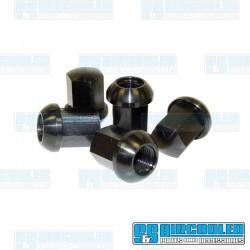 Lug Nuts, M14-1.5, Ball Seat, Porsche Style, Aluminum, Black, EMPI