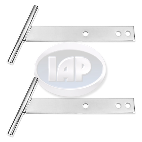 T-Bars, Front or Rear, Steel, Chrome