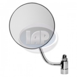 Mirror, Exterior, Round, Left, Chrome