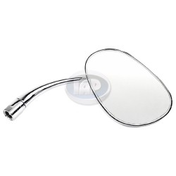 Mirror, Exterior, Pear Shaped, Right, Chrome