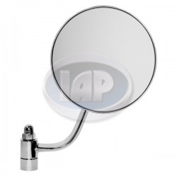 Mirror, Exterior, Round, Right, Chrome
