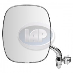 Mirror, Exterior, Square, Left, Chrome, Mexico