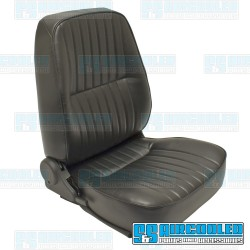 Reclining Bucket Seat, Low-Back w/o Headrest, Right, Black Vinyl, Race Trim