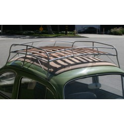 Roof Rack, Knock Down Style, Silver with Wood Slats, Flat-4 Style