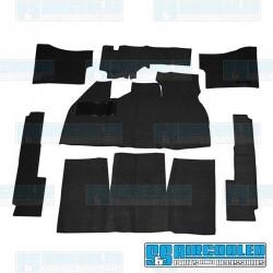 Carpet Kit, 7-Piece w/Footrest, w/Heater Grommets, Black EMPI