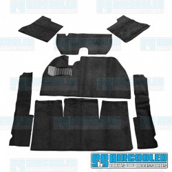Carpet Kit, 7-Piece w/o Footrest, w/Heater Grommets, Black, EMPI