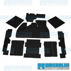 Carpet Kit, 9-Piece w/Footrest, Black, EMPI