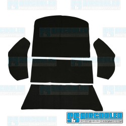 Carpet Kit, 5-Piece Rear Well/Cargo Area, Black, EMPI