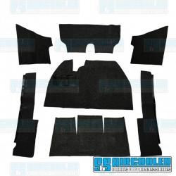 Carpet Kit, 7-Piece w/o Footrest, Black, EMPI
