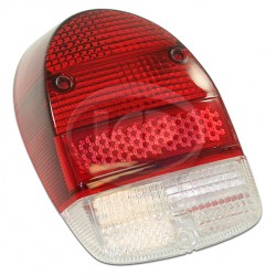 Lens, Tail Light, Red/Red/White, US Style, Left or Right