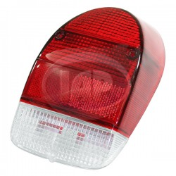 Lens, Tail Light, Red/Red/White, US Style, Right