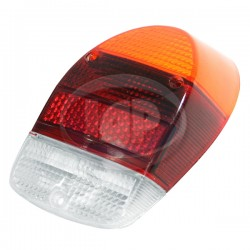 Lens, Tail Light, Amber/Red/White, Euro Style, Left or Right