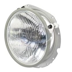 Headlight, H4, 12 Volt 55/60W, 7in. Housing, w/Mounting Bucket