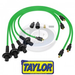 Spark Plug Wires, 8mm Spiral Core, Lime Green, Silicone