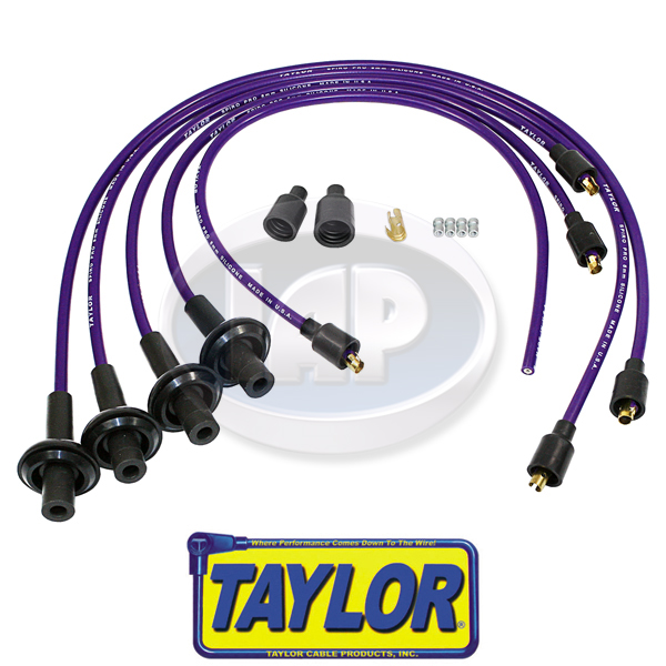 Spark Plug Wires, 8mm Spiral Core, Purple, Silicone, Taylor