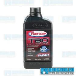 Break-In Oil, TBO, SAE 40, 1-Liter, Torco