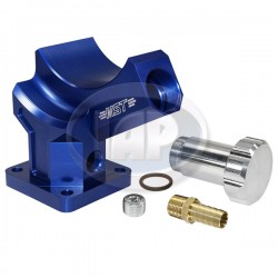 Stand, Alternator or Generator, Billet Aluminum, Blue