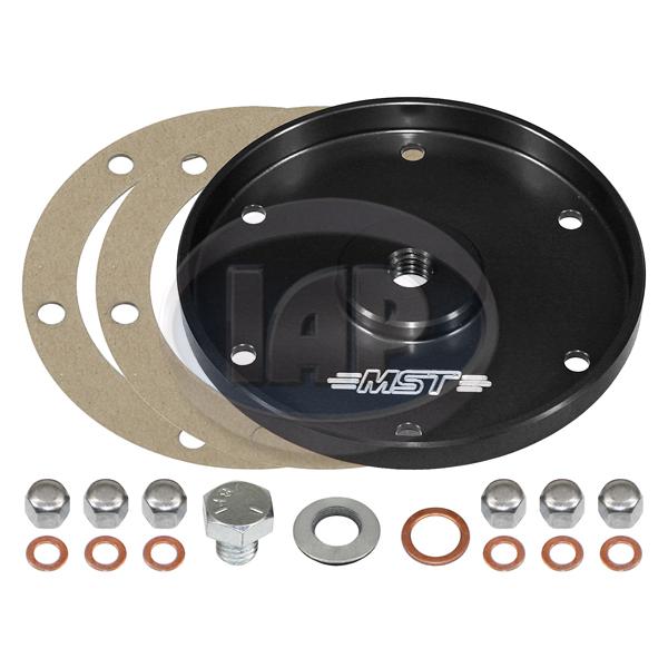 Sump Plate, Billet Aluminum, Black, MST